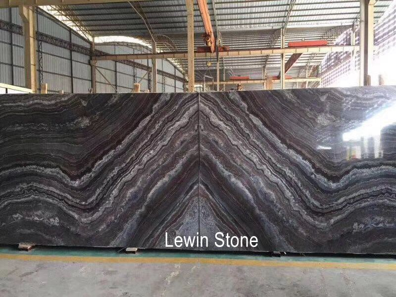 Cuadrado Blue polished marble slab