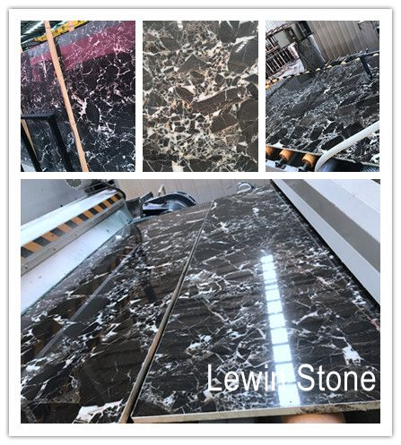 Snow emperador polished marble slab