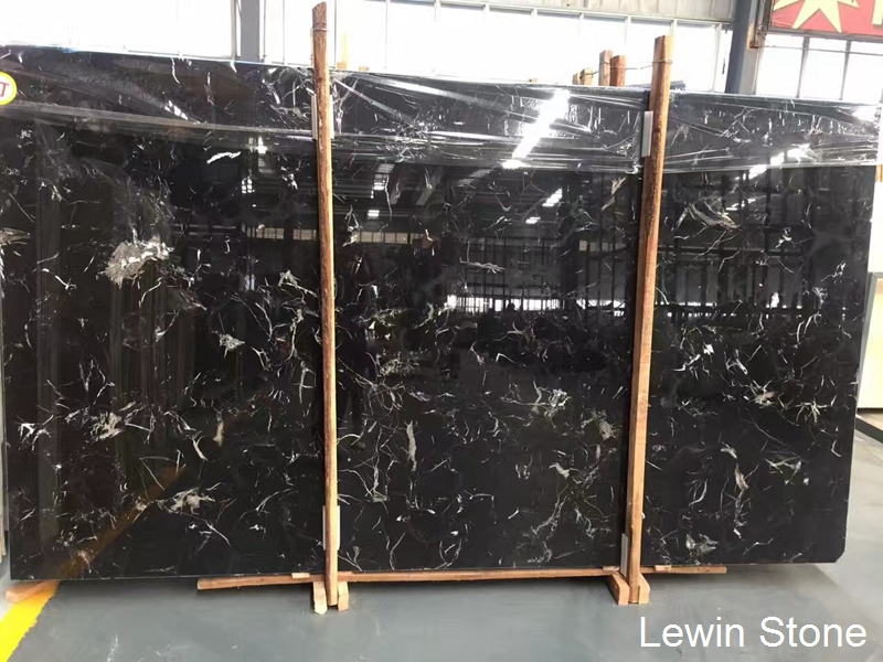Black Ice Dapple Marble Big Slab