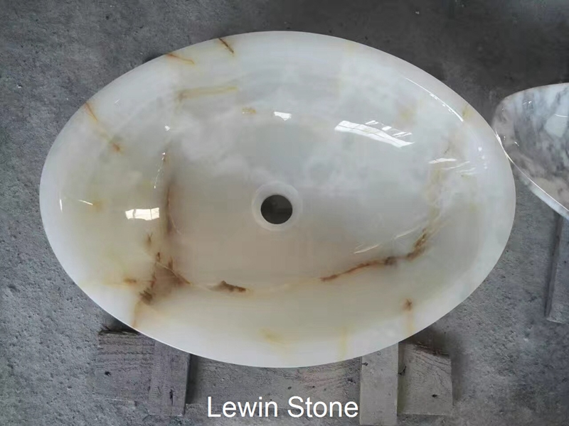 Luxury Natural Round Onyx Sink & Wash Basin