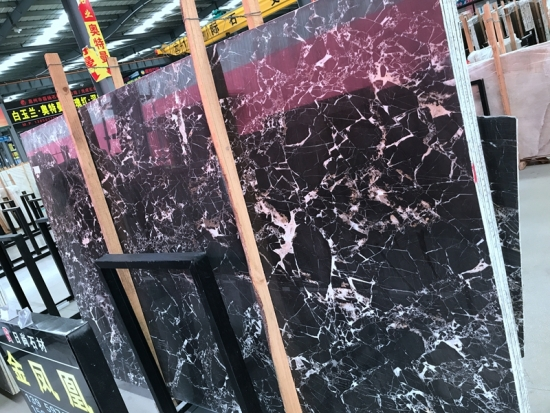 China Snow emperador polished marble slab