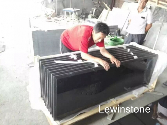 Hebei black granite slab