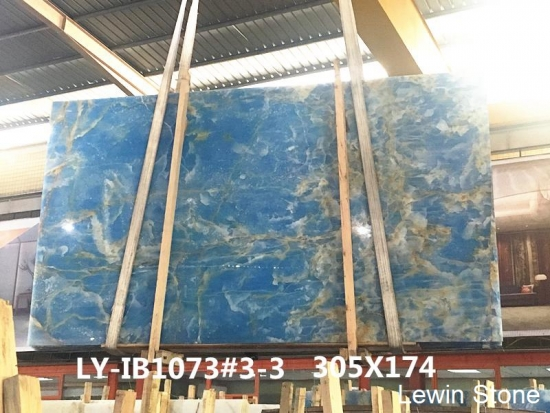 China Blue Onyx Polished Marble Slab