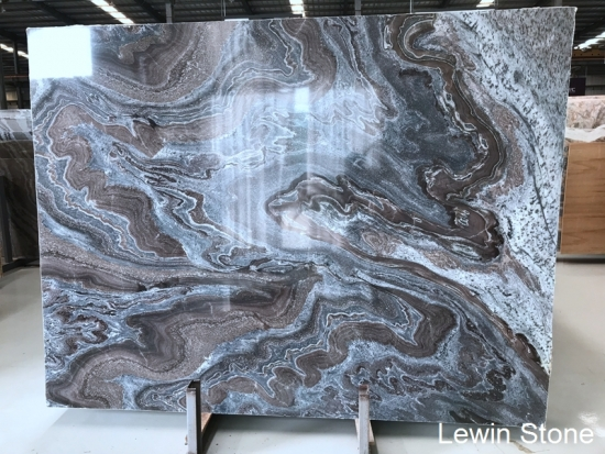 China Cuadrado Blue  polished marble slab