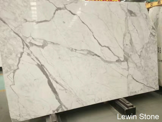 Italy Statuario White Polished Marble Slab